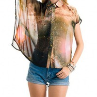WARM GALAXY BLOUSE - WOMENS