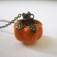 Autumn Pumpkin Necklace