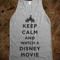 Keep Calm And Watch A Disney Movie (Tank) - Fun Movie Shirts