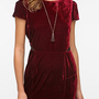 Sparkle &amp; Fade Velvet Puff Sleeve Dress