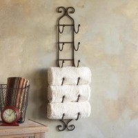 organizational things / Great idea to use a wine rack to hold towels