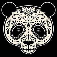 $20.00 Day of the Dead Panda - Threadless.com - Best t-shirts in the world