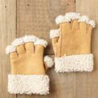 Free People Sherpa Fingerless Gloves at Free People Clothing Boutique