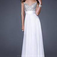 New beads Women&#x27;s Wedding Evening Formal Party Sweetheart Prom white Dress Sz:4