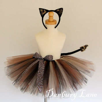 Cat Costume Baby Girls Halloween Tutu set animal by DanburyLane