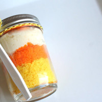 Candy Corn Limited Edition Jar Cakes  4 pack by tookies on Etsy