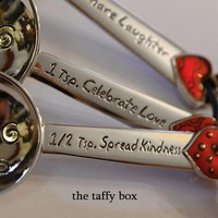 Measuring Spoons Simply adorable Ready to ship by TheTaffyBox