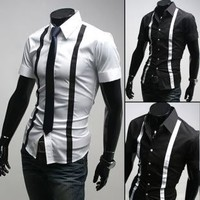 Luxury Slim Fit Short Dress Shirt