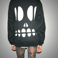 Skull Cut Out Sweatshirt