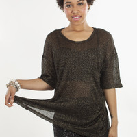 BB Dakota Metallic Tayte Top | MessesOfDresses.com