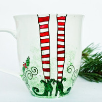 Christmas Legs Mug - Miss Elf