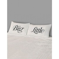 Big/Little Pillow Case Set