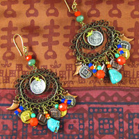 Gypsy Moon Earrings by Elspeth