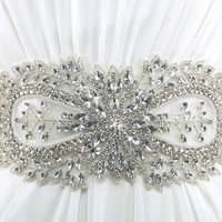 Crystal Bridal Sash JOLIE by KirstenKuehnDesigns on Etsy