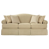 Camel-Back Sofa Boxed Seats Boxed Skirt