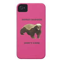 Cabaret Red Fuchsia Honey Badger Don't Care from Zazzle.com