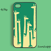 giraffe iPhone 4 case iPhone 4s case iPhone case personalized hard plastic iPhone case