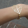 Gold leaf bracelet by BijuBee on Etsy