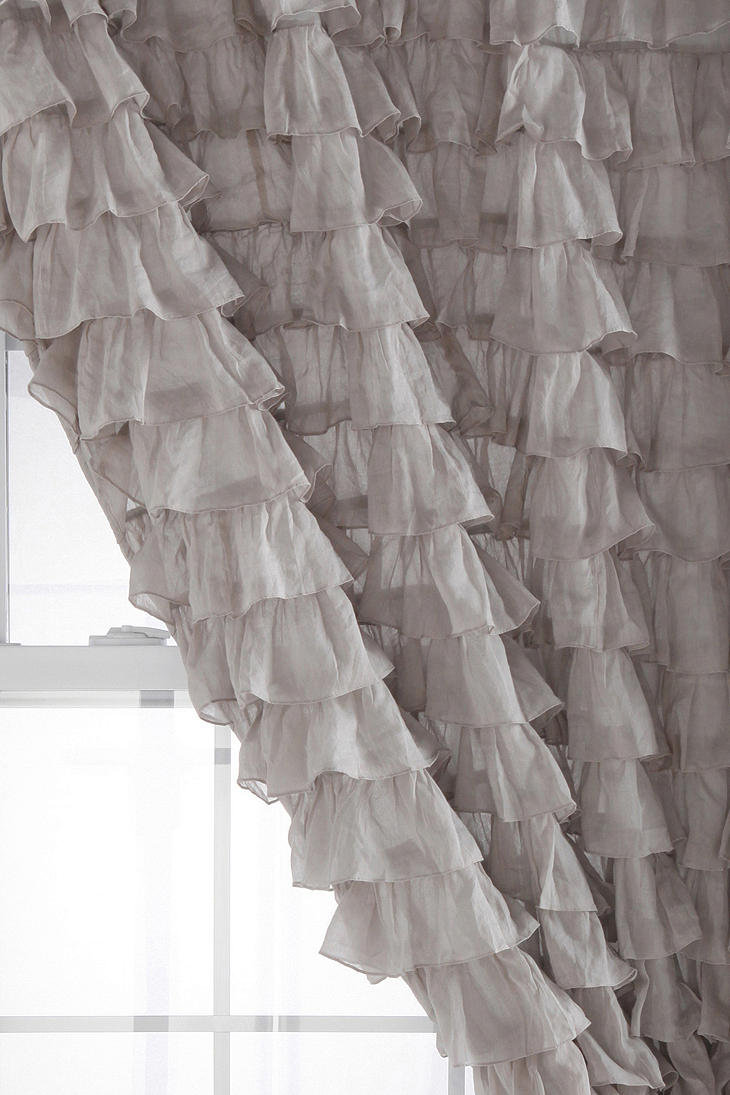 Waterfall Ruffle Curtain   Waterfall Ruffle Shower ...