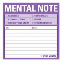 Amazon.com: Knock Knock 12435 Sticky Mental Notes: Office Products