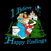 T-Shirt Hell :: Shirts :: I BELIEVE IN HAPPY ENDINGS