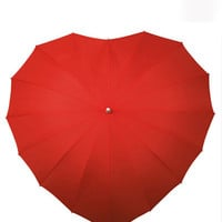 Red Heart Umbrella - Unique Vintage - Homecoming Dresses, Pinup & Prom Dresses.