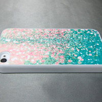 iPhone 4 Case, iPhone Case, iPhone 4S Case, iPhone Case 4/4S - Printed Glitter Image - 154