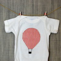 Hot air balloon Onesuit for baby boy or girl by deardavy on Etsy