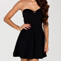 strapless-sweetheart-mini-dress BLACK RED - GoJane.com