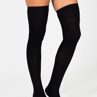 thigh-high-socks BLACK BURGUNDY CHARCOAL DKBROWN KHAKI NAVY PURPLE - GoJane.com
