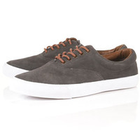 """Mystery"" Suede Plimsolls - Plimsolls & Sneakers  - Men's Shoes  - TOPMAN USA"