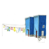 Laundry on the Line Print by kellylasserre on Etsy