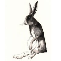 Hare print 11x14 by jimbobart on Etsy