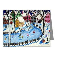 Winter Fun Note Cards (Pk of 20)> Greeting Cards Post Cards Note Cards> Renie Britenbucher Artwork
