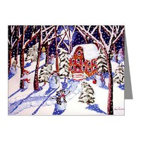 Magic Snowmen Note Cards (Pk of 10)> Greeting Cards Post Cards Note Cards> Renie Britenbucher Artwork