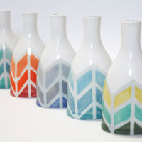 Herringbone Color-way Vase