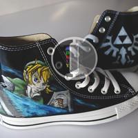 Legend Of Zelda Hand Painted High Tops