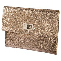 Mossimo Glitter Clutch - Gold
