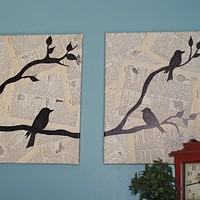 Vintage Inspired Sharpie or Paint Dual Canvas Project