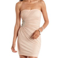 Embellished Sweetheart Tube Dress: Charlotte Russe