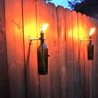 Wine Bottle Tiki Torch Outdoor Lighting (3) by GreatBottlesofFire