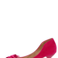 Restricted Sofia Fuchsia Bow-Topped Pointed Pumps