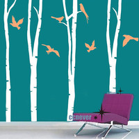 Huge 100inch H 4 Tree Flying BirdRemovable Graphic Art by ccnever