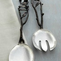 "Michael Aram ""Olive Branch"" Serving Set - Neiman Marcus"