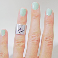 knuckle ring, silver knuckle ring, unicorn ring