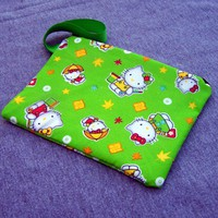 Lime Hello Kitty Clutch Kawaii