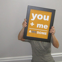 Awesome Print You and Me Print Wedding by pumpkinandbutterfly