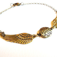 Steampunk Harry Potter Golden Snitch Bracelet