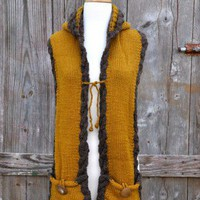 emiLime Mustard & Brown Shoodmar - $88.00: From ourchoix.com, this mustard and brown shoodmar was handmade in Peru.
