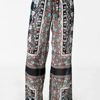 Paisley Park Wideleg Pants - $38.00: ThreadSence, Women's Indie & Bohemian Clothing, Dresses, & Accessories